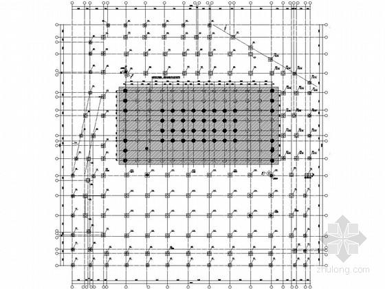 36层型钢混凝土柱-框架梁-剪力墙结构综合楼结施(含建施、冲孔灌注桩)