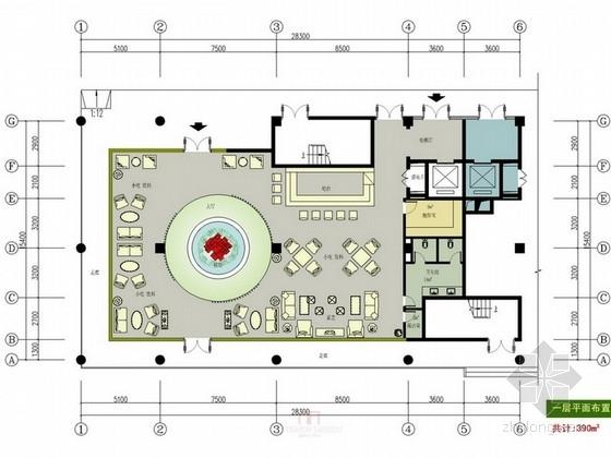 [投标]现代风建设公司办公楼方案图