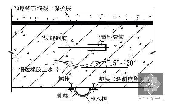 [江苏]逆作法地铁双柱三跨框架车站施工组织设计166页(高压旋喷桩复合挡土墙)-顶板诱导缝做法