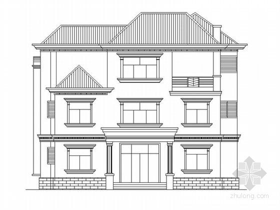 三层美式独立别墅方案图(两个车位)