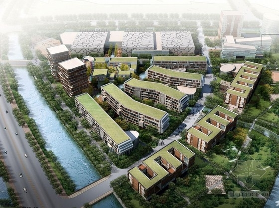 [浙江]现代风格办公会展地块规划及单体建筑设计方案文本
