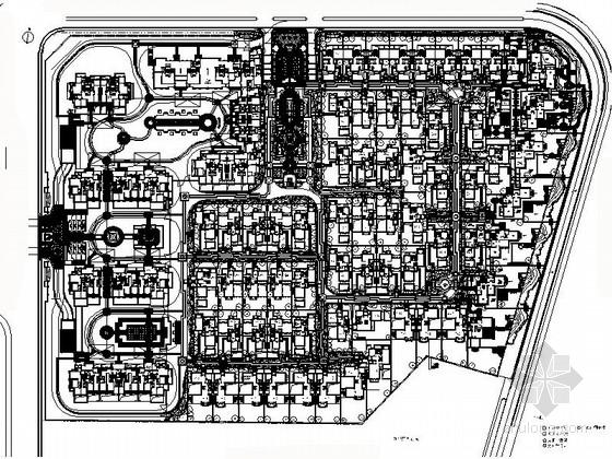 [浙江]服务业集聚区庭院景观设计施工图