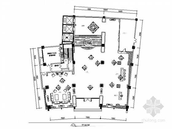 精装豪华欧式风格KTV大厅设计室内装修图(含效果)