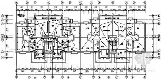某小区五栋住宅楼电气施工图纸