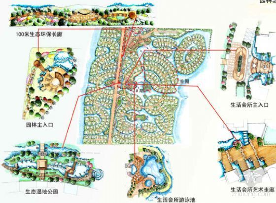 [上海]高尔夫别墅园林扩初设计方案
