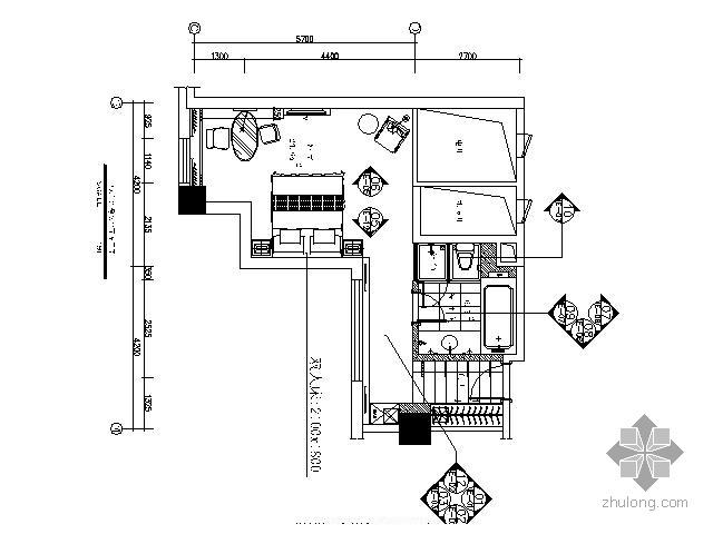 五星酒店标准房施工图