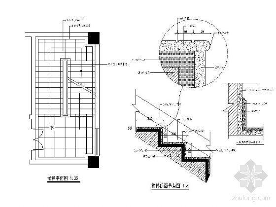 石材踏步楼梯详图
