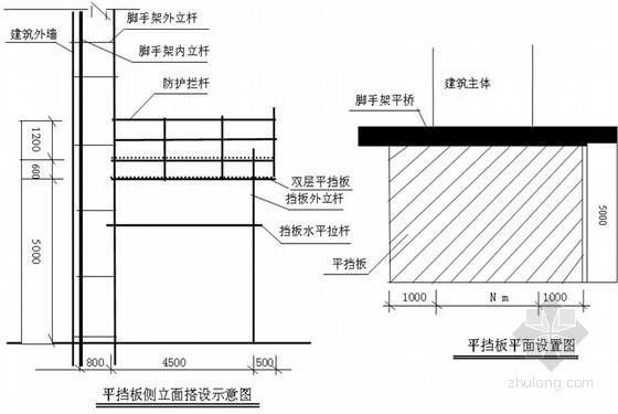 [广东]剪力墙结构居民楼悬挑脚手架方案