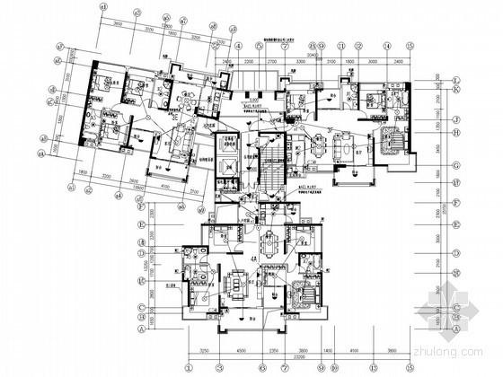 [广东]三十二层住宅楼全套电气施工图纸(含地下室及配电房图纸)