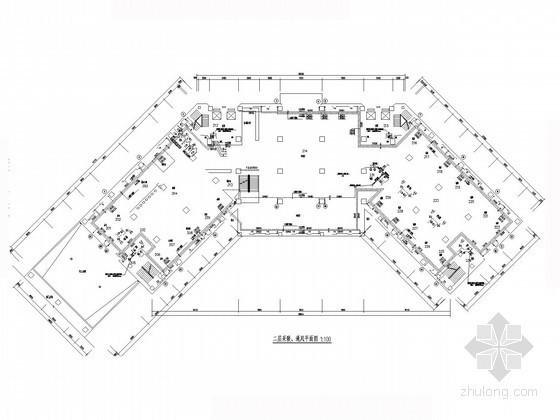 [河北]高层综合楼采暖通风及防排烟系统设计施工图(含负荷计算书)