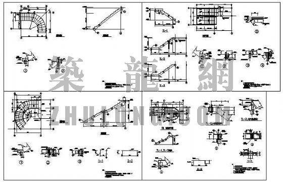 钢结构旋转楼梯图纸