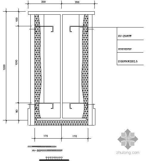 某钢结构防火做法节点构造详图