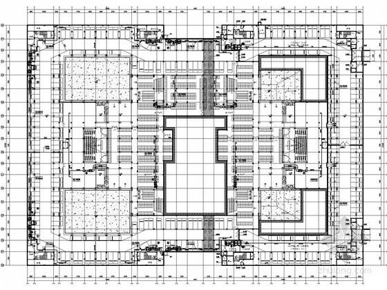 [福建]高等院校图书馆空调通风及防排烟系统设计施工图(含人防设计)