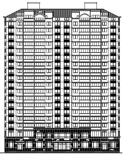某高层坡屋面住宅楼建筑施工图(全套)