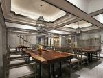 中式灰调餐饮空间3D模型