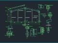篮球馆钢结构门式钢架厂房施工图