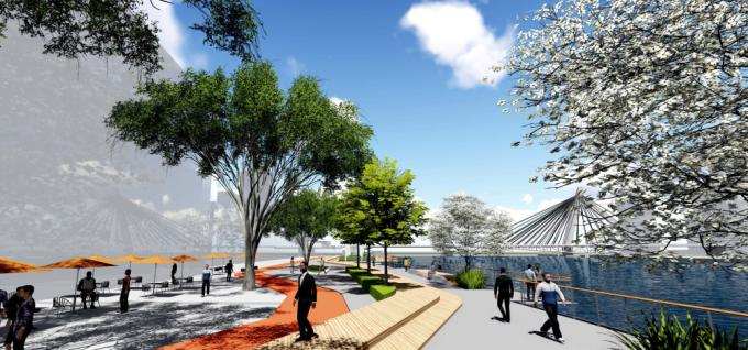 """[浙江]""""三江六岸""""城市山海生态滨水休闲景观规划设计方案"""