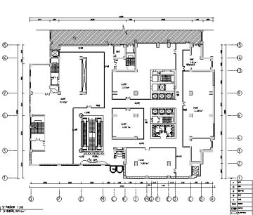 [乌鲁木齐]线条韵律餐饮广场公共部分设计施工图(含效果图)