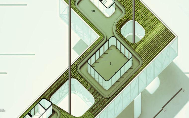 斜軸側平面圖不會?建筑表現達人用5步告訴你