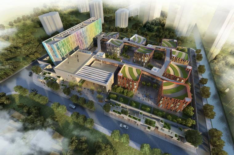 [江苏]27班现代风格幼儿园建筑设计方案(CAD+SU+文本)