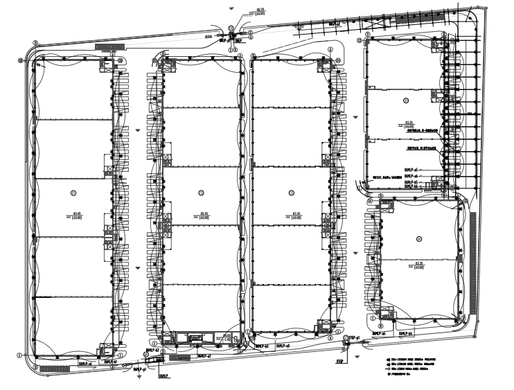 湖南仓储产业园办公及仓储全套施工图纸
