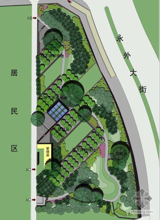 北京城市公园景观总平面图