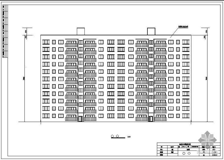 [学士]某十一层住宅楼毕业设计(含计算书、建筑结构设计图)