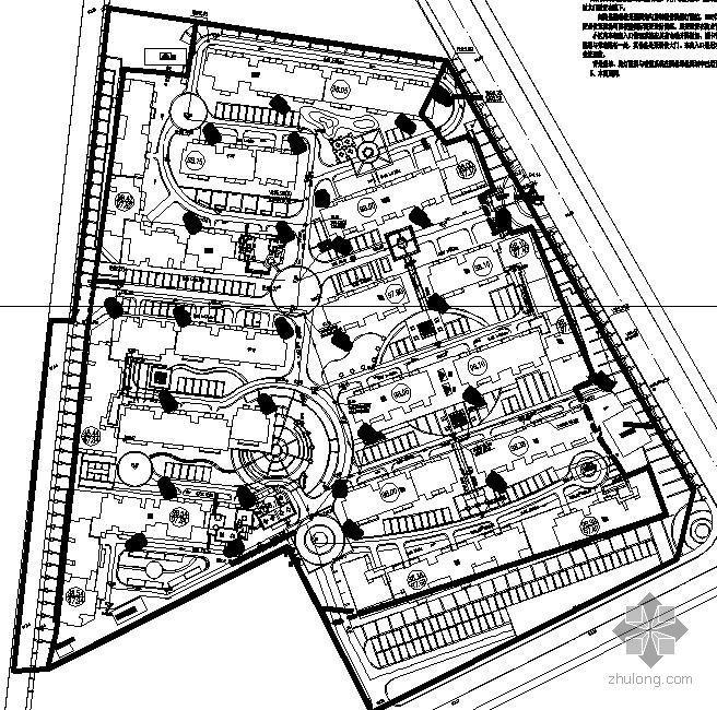 某小区安防、弱电外网电气图纸-2