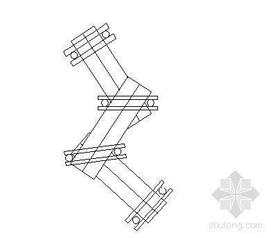 木折桥和青石板汀步施工图