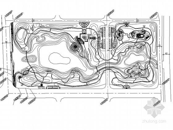 [温州]滨水公园园林景观工程总图及植物配置施工图