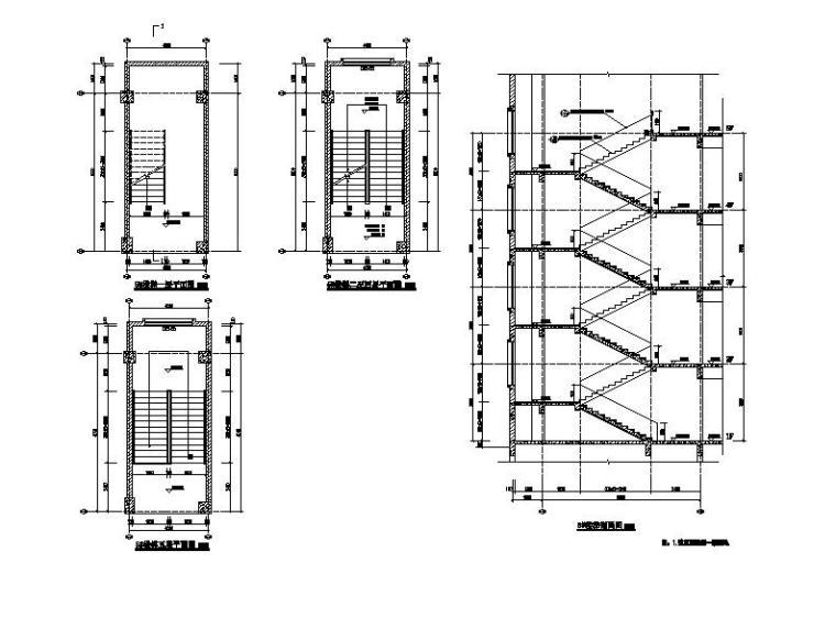 [浙江]五层长条形面砖外墙市级中学建筑施工图(含效果图)_12
