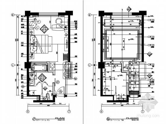 [甘肃]44平方客房设计施工图