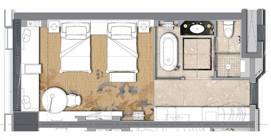 [河南]精品优秀星级酒店舒适现代客房室内设计方案