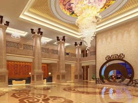 欧式大厅cad资料下载-欧式华丽大厅3D模型下载
