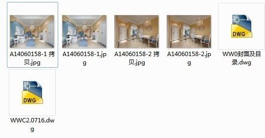[湖北]地中海温馨舒适2居室室内设计CAD施工图(含效果图)-[湖北]地知名地产温馨舒适2居室室内设计缩略图