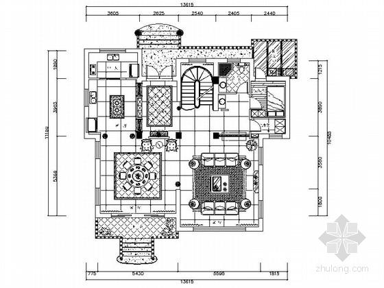 [上海]高端新古典欧式复式样板间装修施工图