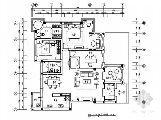 [哈尔滨]保利开发某奢华三居样板房装修图(含效果)
