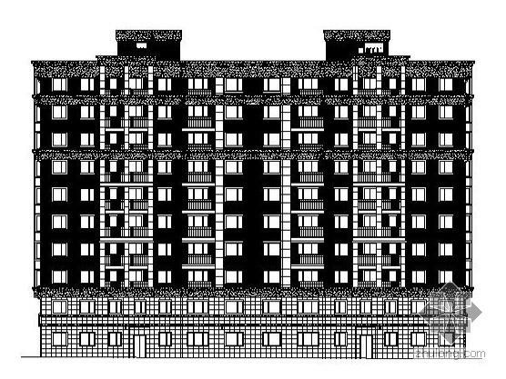 [大连]某十层底商住宅楼建筑施工图