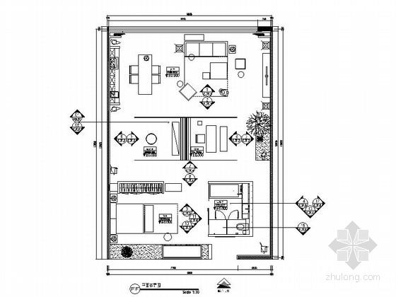 [北京]北四环店高档现代风格家居装修施工图