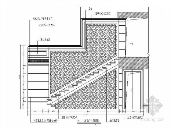 [深圳]四层别墅中欧混搭风格装修图(含效果图) 立面图