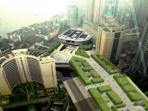 [重庆]某美术馆建筑方案文本、CAD图纸