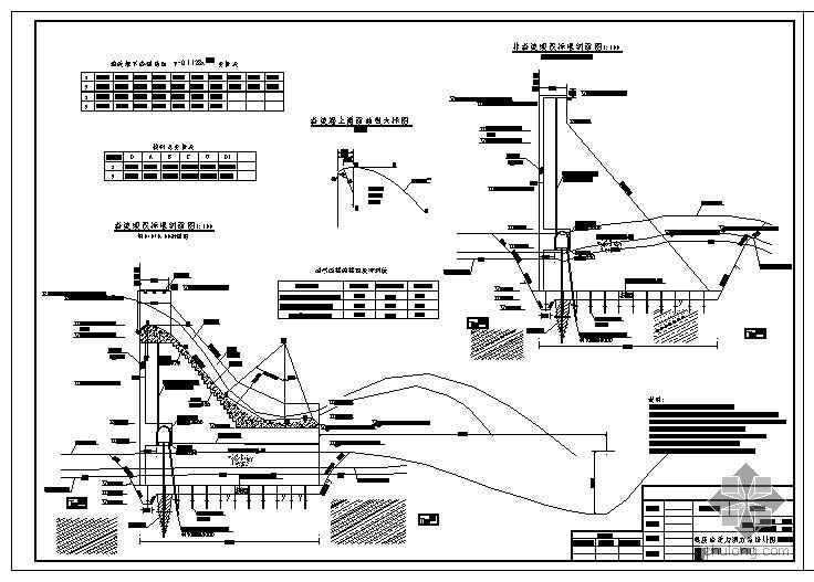 碾压混凝土重力坝方案设计图
