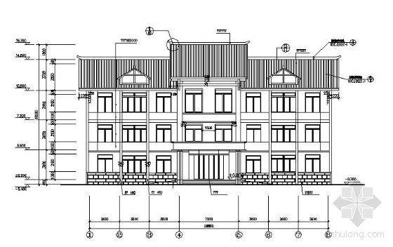 某坡屋面办公楼建筑结构施工图纸