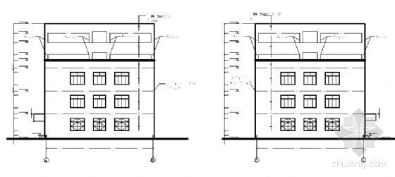 四川省某学校附属学院五层教学楼建筑施工图-2
