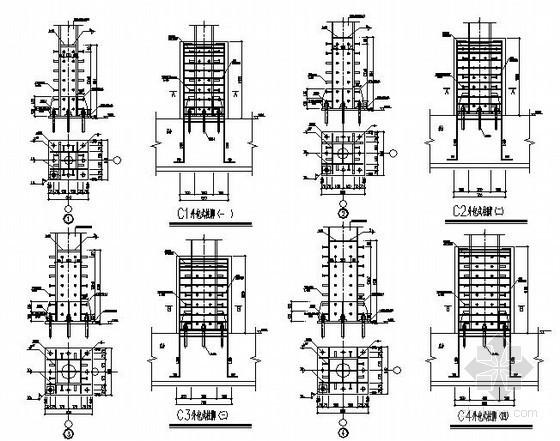某外包式钢柱脚节点构造详图
