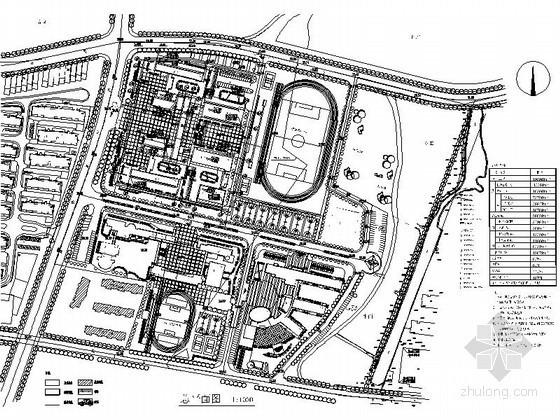 [武汉]某科技大学附属中学新校区规划总平面图