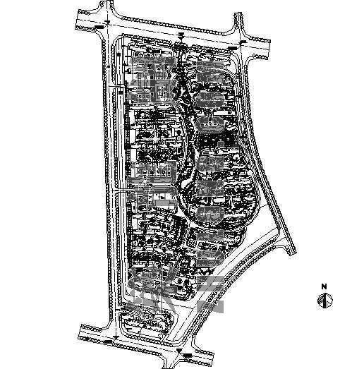 某住宅小区整体规划平面图