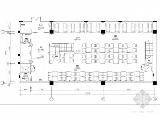 [北京]国内首家奥运会服务企业高档休闲餐厅装修施工图