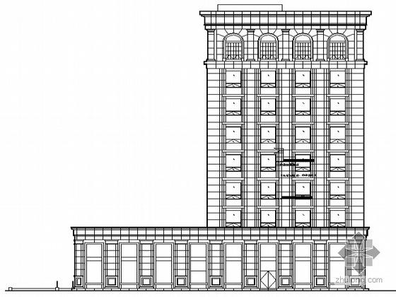 某欧式九层办公楼建筑方案设计(含效果图)