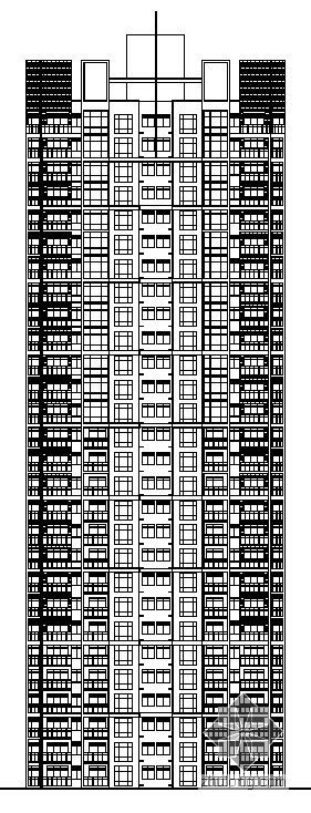 青岛某花园小区高层塔式住宅建筑方案图(3#4#楼)